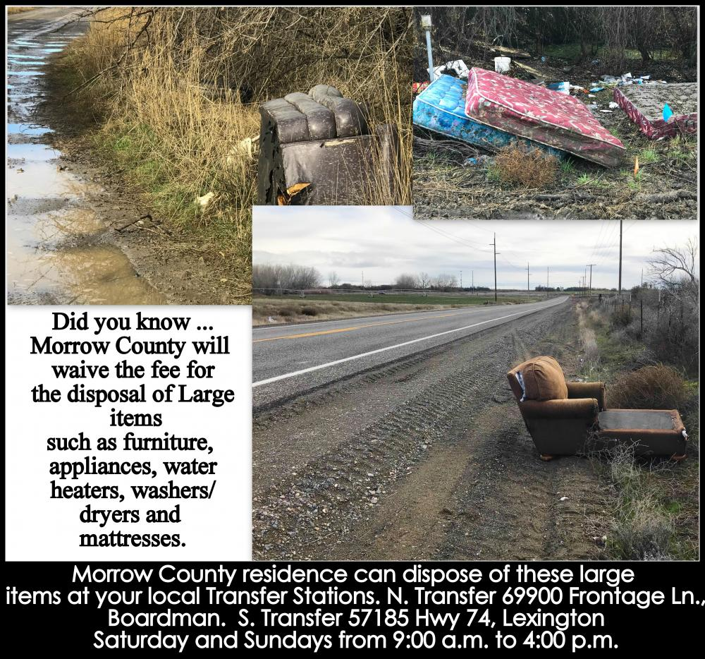 Solid Waste Management Morrow County Oregon